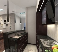 kitchen in broun color