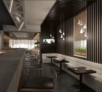 Interior na bar