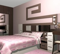 Bedroom with pastel colors