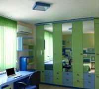 Blue green bedroom