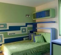 Detska spalnia v sinio i seleno