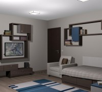 Boys bedroom interior