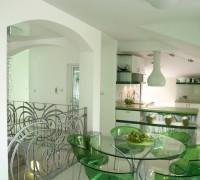 Interior v zeleno