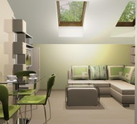 Interior with green color
