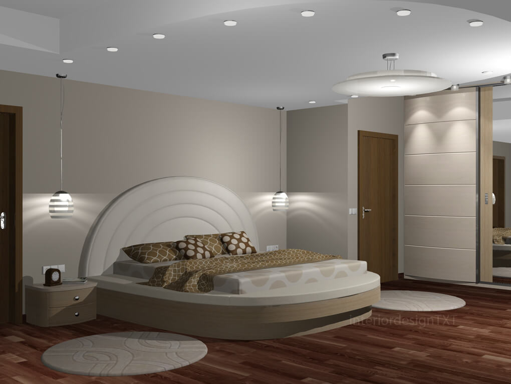 Bedroom In Round Shapes Interior Design Txt