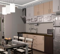 Kitchen with pattern