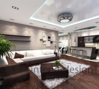 Living room in beije