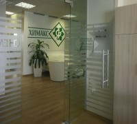 Office glass panels
