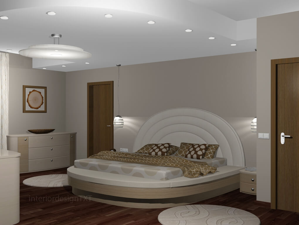 Bedroom in round shapes interior design txt for Round bed interior design