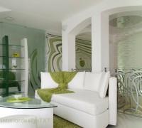 Shelves and sofa
